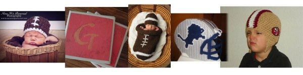 Football Crafts, Crochet Baby Football Hat, Knit Baby Football Cocoon and Hat, Crochet Football Helmet, Football Coasters Plastic Canvas Football Helmet Tissue Cover
