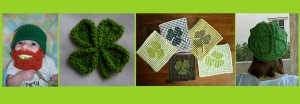 St. Paddy's Day Crafts, Green knit and crochet patterns